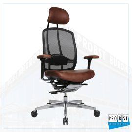 Bürostuhl braun schwarz