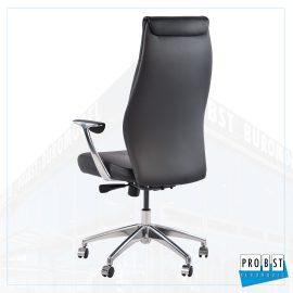 Bürodrehstuhl Leder schwarz