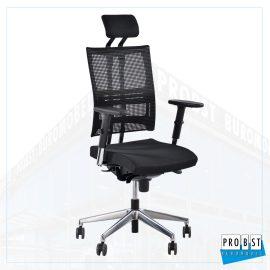 Bürostuhl Netzrücken Kopfstütze schwarz