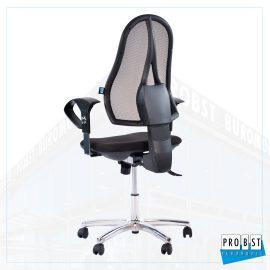 Bürodrehstuhl Netzrücken schwarz