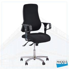 Bürodrehstuhl Stoff schwarz/schwarz