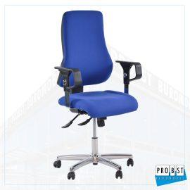 Bürodrehstuhl Stoff blau/blau