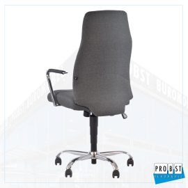 Bürostuhl grau chrom