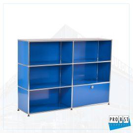 USM Haller Klappenschrank blau