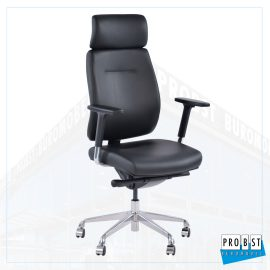 Bürostuhl Leder schwarz