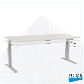 Schreibtisch lichtgrau